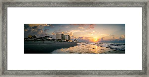 Cherry Grove Panoramic Sunrise Framed Print