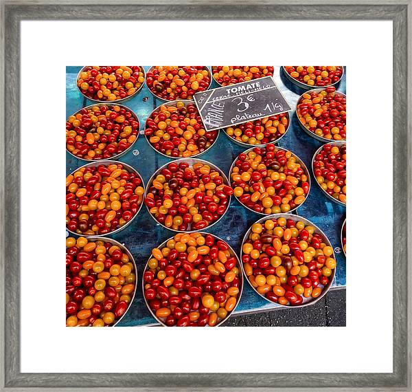 Cherry Tomatoes In Lyon Market Framed Print