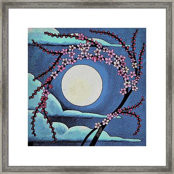 Cherry Whip Moon Framed Print