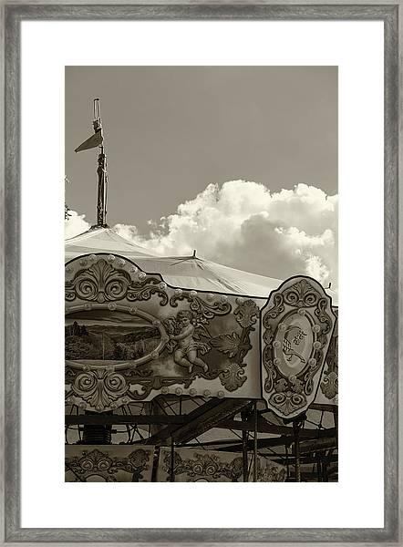 Cherub In The Clouds Framed Print