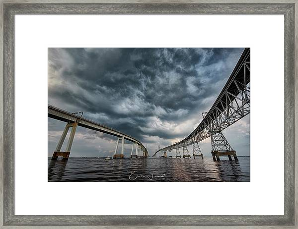 Chesapeake Bay Bridge Storm Framed Print