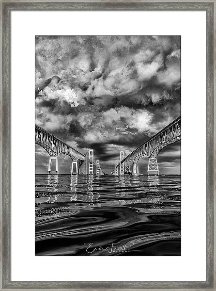 Chesapeake Bay Bw Framed Print