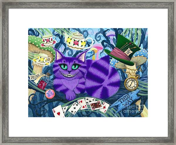 Cheshire Cat - Alice In Wonderland Framed Print