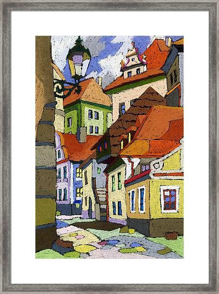 Chesky Krumlov Masna Street 1 Framed Print