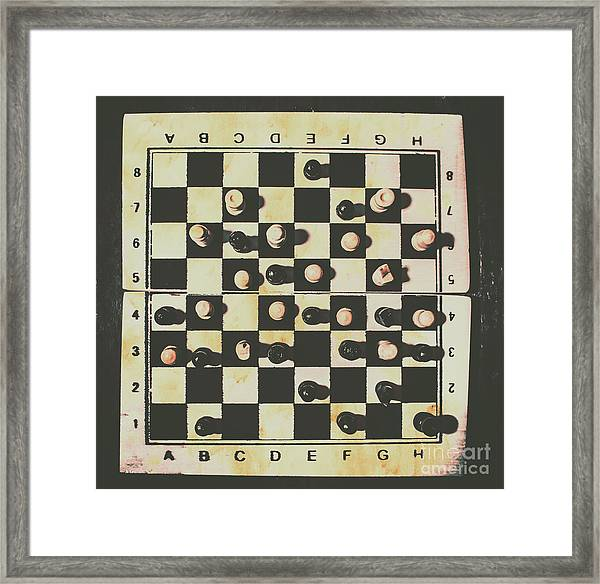 Chessboards And Playing Pieces Framed Print