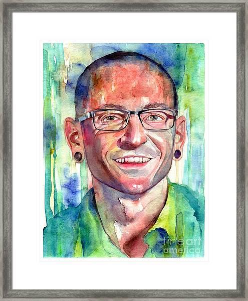 Chester Bennington Portrait Framed Print
