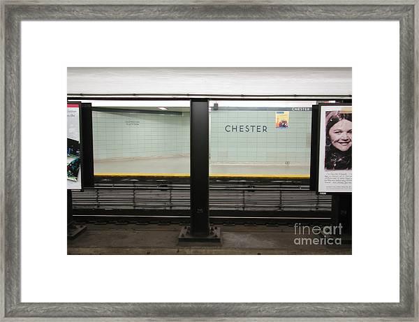 Chester Station Toronto Framed Print