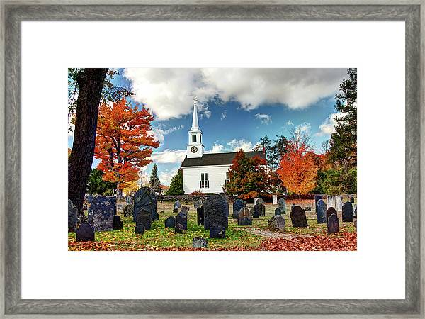 Chester Village Cemetery In Autumn Framed Print
