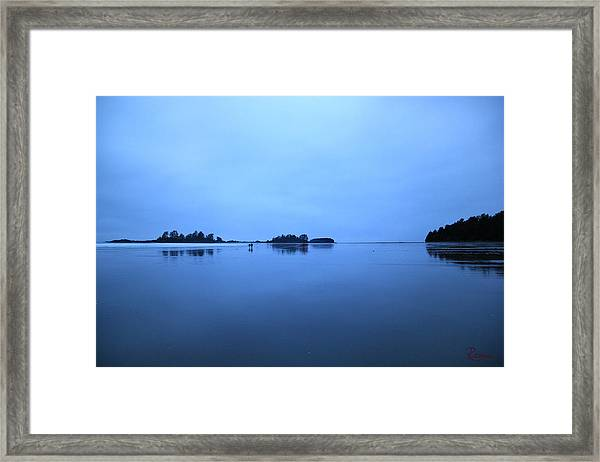 Chesterman Spatial Blues Framed Print