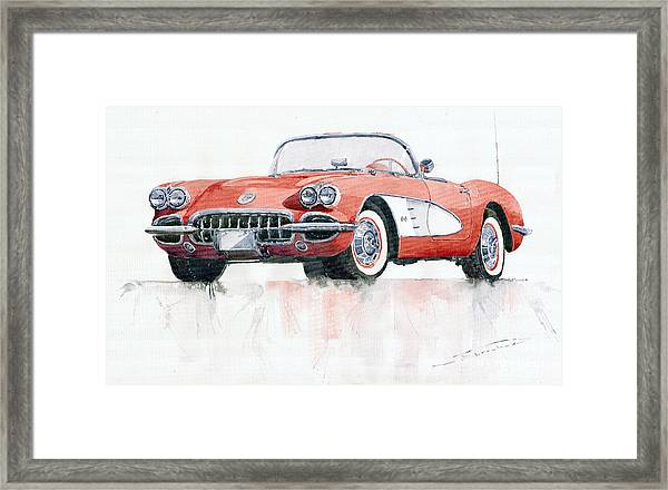 Chevrolet Corvette C1 1960  Framed Print