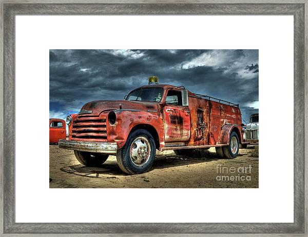 1948 Chevrolet Fire Truck Framed Print