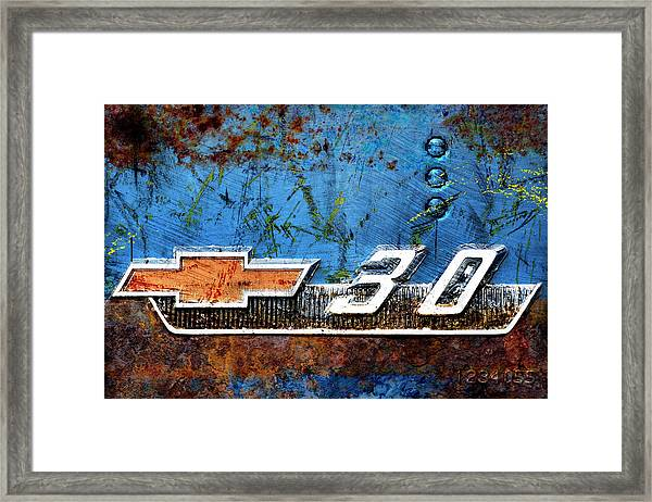 Chevy 3.0 Photomontage Framed Print