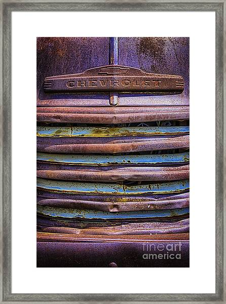 Chevy 3100 Grill Framed Print