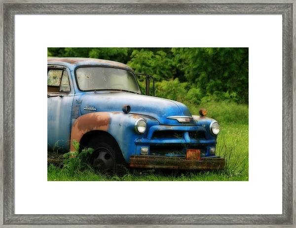 Chevy 6500 Farm Truck Framed Print