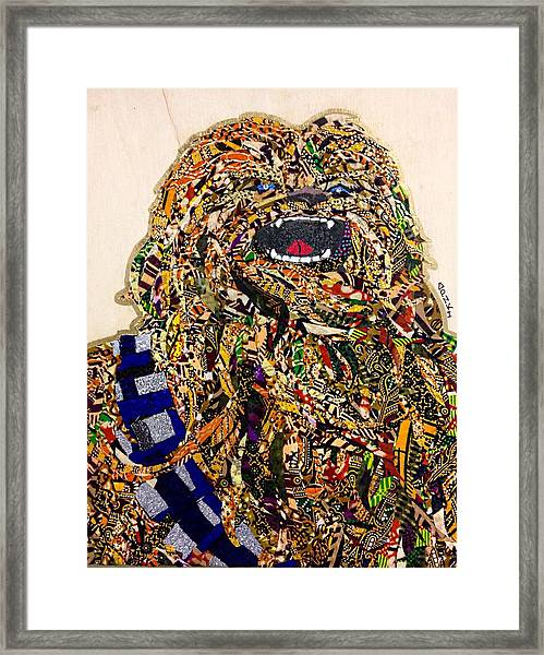 Chewbacca Star Wars Awakens Afrofuturist Collection Framed Print