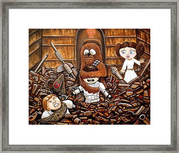 Chewie Get Off My Me You Big Furry Oaf Framed Print