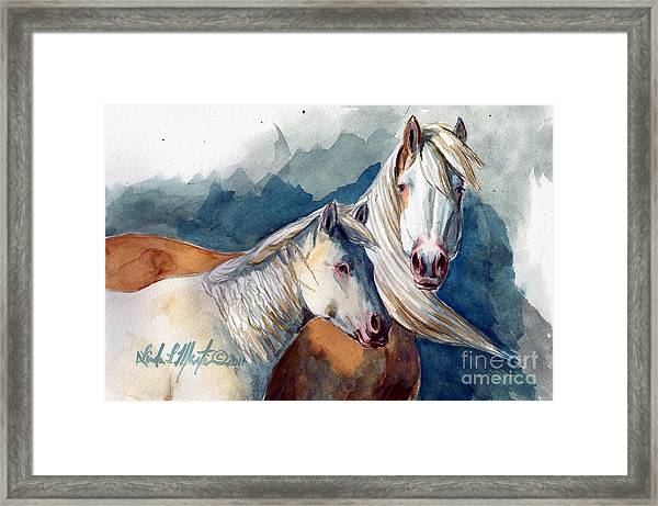 Cheyenne And Tripod Framed Print