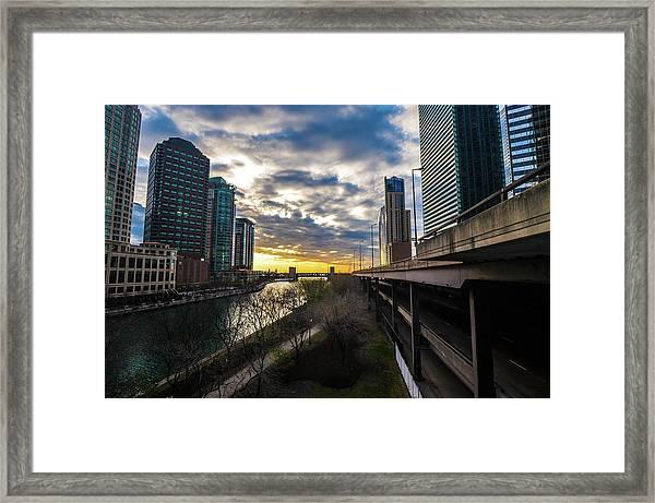 Chi Sunrise 2 Framed Print