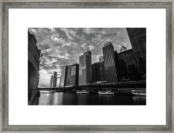 Chi Sunrise Black And White Framed Print
