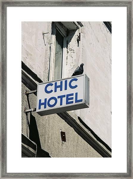Chic Hotel Framed Print