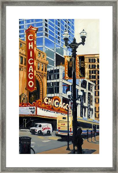 Chicago - The Chicago Theater Framed Print