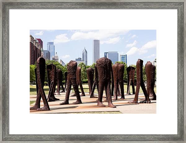 Chicago Agora Headless Statues Framed Print by Paul Velgos
