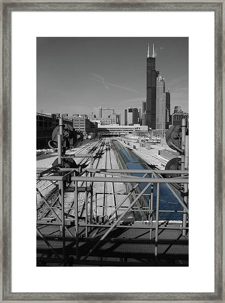 Framed Print featuring the photograph Chicago Amtrak by Dylan Punke