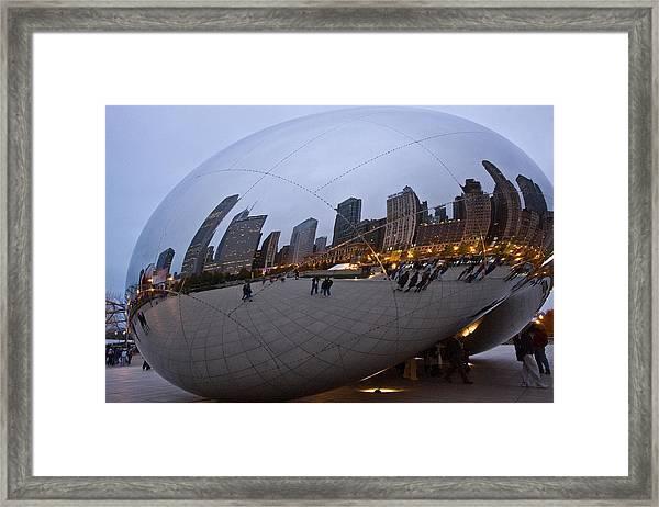 Chicago Bean Framed Print