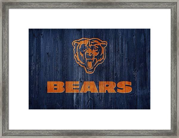 Chicago Bears Barn Door Framed Print