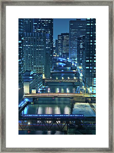 Chicago Bridges Framed Print