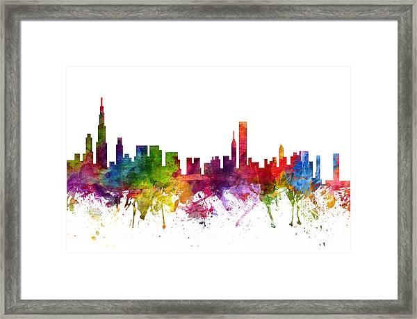 Chicago Cityscape 06 Framed Print