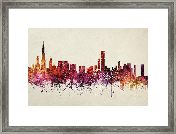 Chicago Cityscape 09 Framed Print