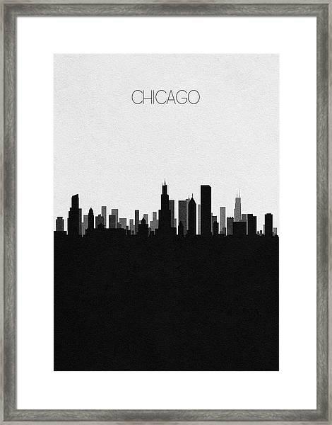 Chicago Cityscape Art Framed Print
