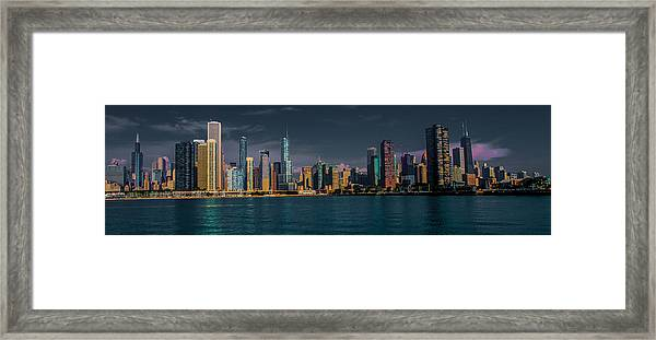 Chicago Cityscape Framed Print