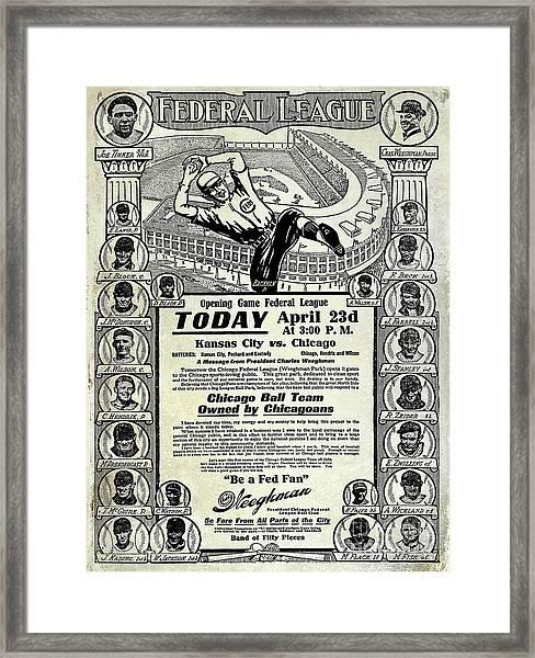 Chicago Cub Poster Framed Print