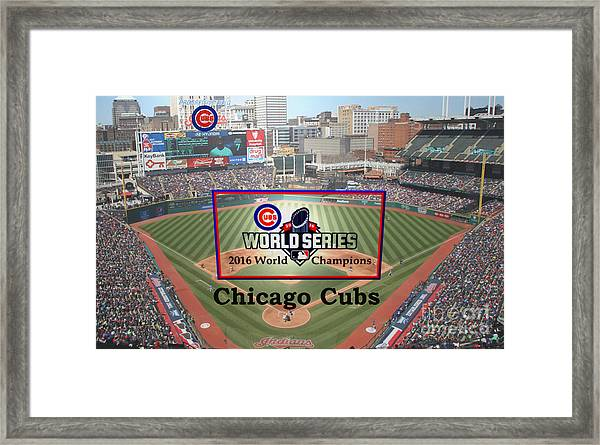 Chicago Cubs - 2016 World Series Champions Framed Print