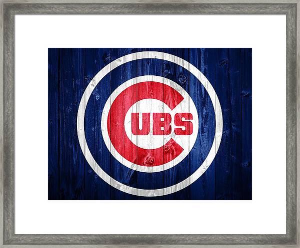 Chicago Cubs Barn Door Framed Print