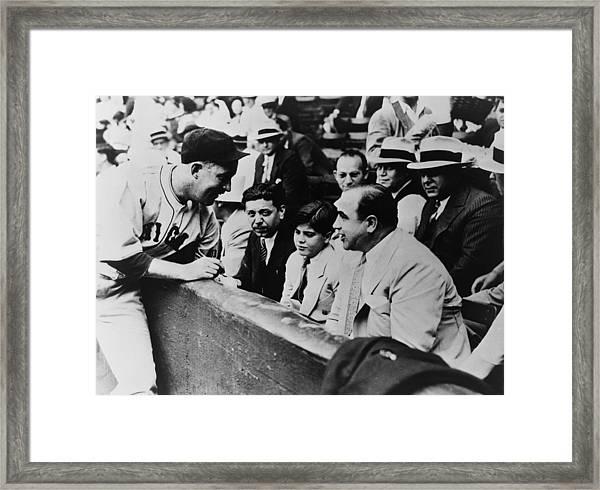Chicago Cubs Player Gabby Hartnett Framed Print