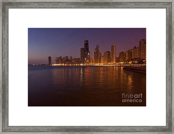 Chicago Dawn Framed Print