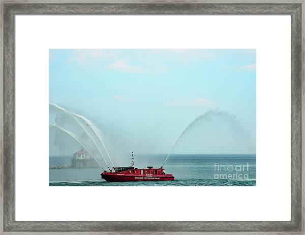 Chicago Fire Department Fireboat Framed Print