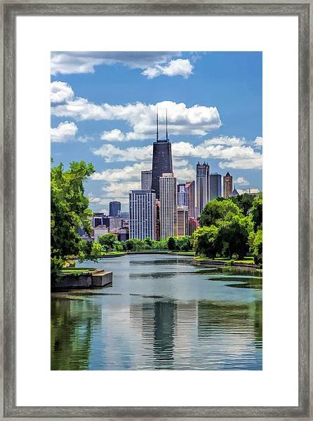 Chicago Lincoln Park Lagoon Framed Print