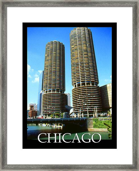 Chicago Poster - Marina City Framed Print