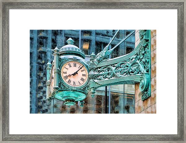 Chicago Marshall Field State Street Clock Framed Print