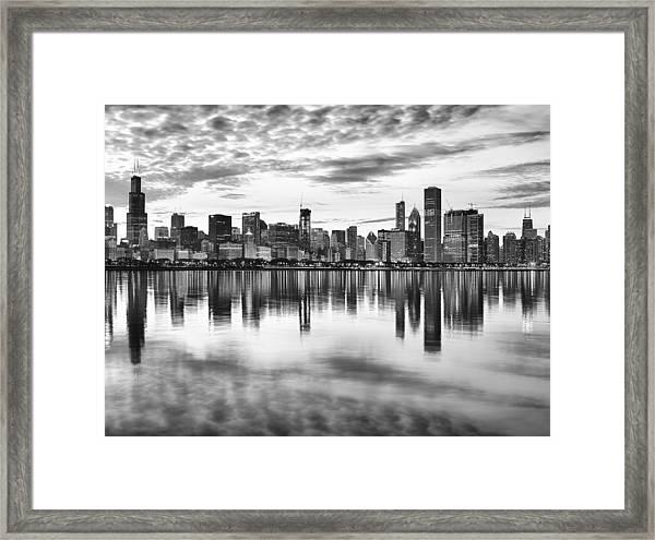 Chicago Reflection Framed Print