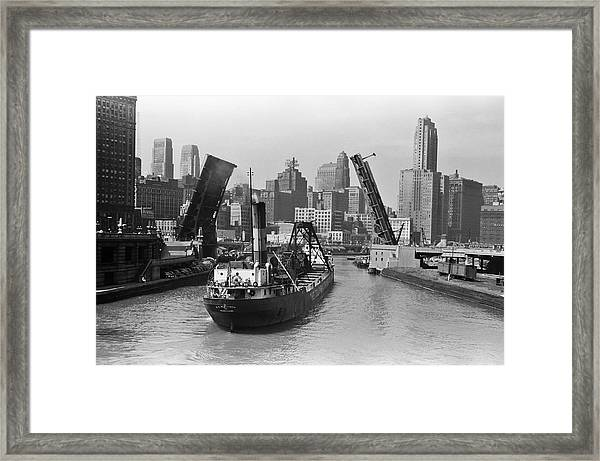Chicago River 1941 Framed Print