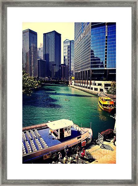 City Of Chicago - River Tour Framed Print