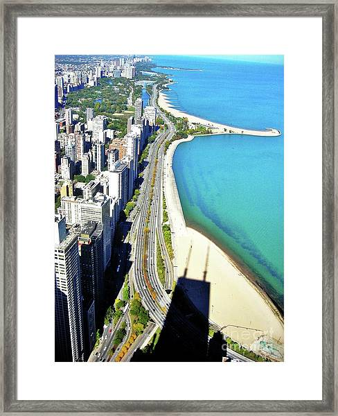 Chicago Shoreline Framed Print by Snapshot Studio