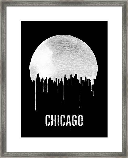 Chicago Skyline Black Framed Print