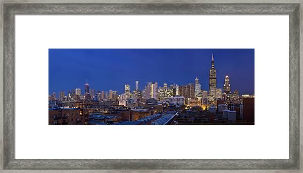 Chicago Skyline West Side Framed Print