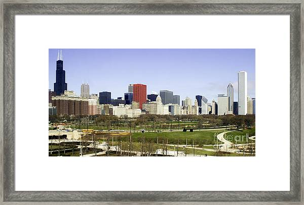 Chicago- The Windy City Framed Print
